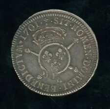 Louis XIV joli demi écu aux insignes 1701 A Paris