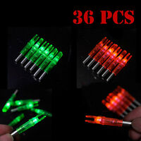 6-36Pcs Shooting Archery Lighted Nock Compound Bow LED Lighted Green/Red Arrow