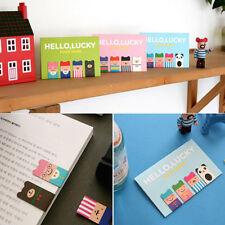 Bear Korean Magnetic Metal Lucky Bookmarks Book Clip School Office Supplies