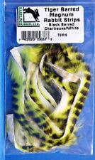 Tiger Barred MAGNUM Rabbit Strips TSM16 Black Barred Chartreuse / White