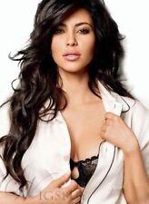 100% Real Hair! Kim Kardashian Long Wavy Hairstyle Hair Wig 24 Inches