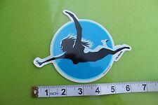 Sexy Swimmer Girl Mermaid Lady ALMERA Pop Art Car Racing Surfing Skate STICKER