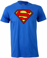 SUPERMAN  LOGO T Shirt Blue Man of Steel NEW OFFICIAL DC COMICS Mens S - 4XL