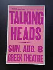 Talking Heads - The Greek Theatre - Original Vintage Rock Concert Promo Poster