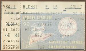 Manny Ramirez Playoff HR #12 1998 ALCS Game 1 Ticket Stub Indians at Yankees