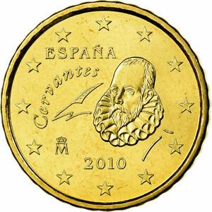 [#700449] Espagne, 10 Euro Cent, 2010, SPL, Laiton, KM:1147