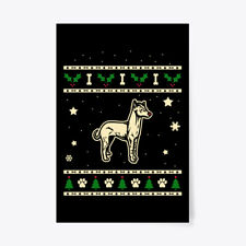 "Christmas Peruvian Hairless Dog Gift Poster - 24""x36"""