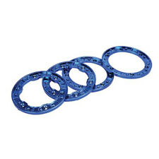 Losi LOSB700 Molded Beadlock Rings Blue Chrome: NCR