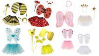Girls Princess Fairy Costume Fancy Dress Up Set - Wing, Fairy Wand, Bopper, Tutu