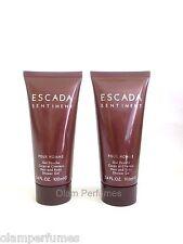 Escada Sentiment For Men Hair & Body Shower Gel Shampoo 6.7oz 200ml * (3.4 x 2)