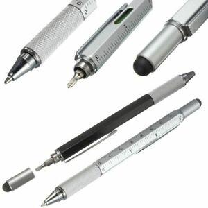 Pen Ballpoint Multi Function Tool Color Ruler Screwdriver Touch Screen 7in1 Uni