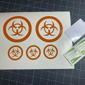 Bicycle Reflective Stickers Decals Biohazard