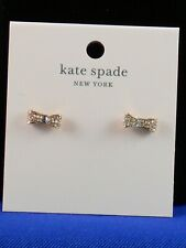 Kate Spade Rose Gold Plate READY SET BOW Pave' Bow Stud Earrings O0RU1561 $39