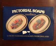 2 Bars Edenfield Floral PICTORIAL SOAPS Luxury Hardmilled England 5.3 Oz NEW
