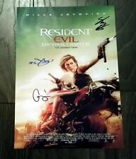 "RESIDENT EVIL 6 - FINAL CHAPTER PP SIGNED 12""X8"" A4 PHOTO POSTER MILLA JOVOVICH"