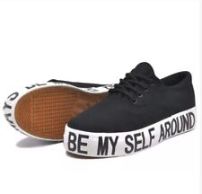 Rave Skye Fashion Sneakers Lace Up Statement Shoes for Women - (BLACK) SIZE 39