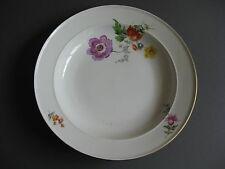 Teller Bunte Blume Meissen Dm.24 cm. 1 Wahl. Marke 1860-1924! 4/8