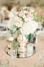 "12 pcs 14"" Round MIRRORS Wedding Party Reception Wholesale CENTERPIECES Supplies"