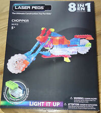 Zippy Do Chopper Laser Pegs Light Up Construction Building Block Toy ZD3100B