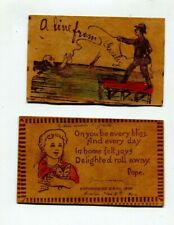 2 leather postcards   C 1906