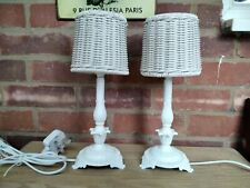 Pair Of refurbished Vintage shabby chic french Lamps