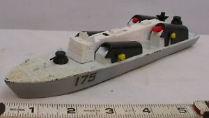 DINKY OSA2 MISSLE BOAT DIE CAST TOY WITH MISSLES ENGLAND