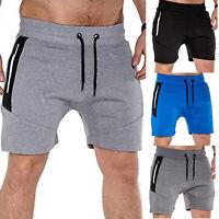 New Men's Sports Stretch Shorts Training Gym Fitness Workout Zipper Pocket Pants