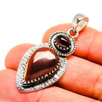 "Mookaite, Garnet 925 Sterling Silver Pendant 1 7/8"" Ana Co Jewelry P749311F"