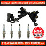 4x Genuine NGK Spark Plugs & 1x Ignition Coil Pack for Hyundai Getz TB 1.3L