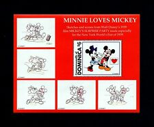 DOMINICA - 1997 - DISNEY - MINNIE LOVES MICKEY - SURPRISE PARTY - MNH S/SHEET!