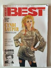 BEST N°222 1987 CYNDI LAUPER INTERVIEW EXCLUSIVE