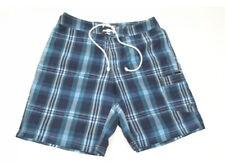 New listing Men's J. CREW Blue Plaid Board Shorts / Swim Suit Trunks sz: 33 Preowned