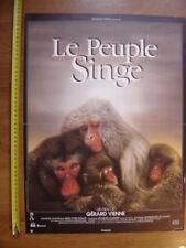Petite affiche cinema LE PEUPLE SINGE Gerard Vienne DOCUMENTAIRE MOVIE