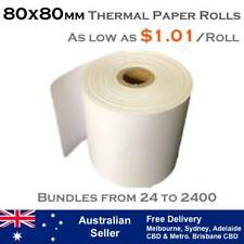80x80 mm THERMAL RECEIPT PAPER ROLLS (As low as $1.01 per roll)
