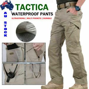AU Soldier Tactical Waterproof Pants Men Cargo Work Trouser Combat Outdoor Pants
