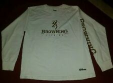 WILSON BROWNING FISHING DEER LOGO T SHIRT ~ IVORY ~ Sz M