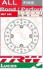 Disque de frein Arrière TRW Lucas MST245 MST 245 Diamètre extérieur  220 mm