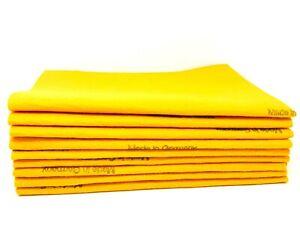 4 Pack Orange EXTRA LARGE Original German Shammy Cloths Chamois Towels BULK LOT