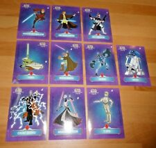 Star Wars Clone Wars Complete Die Cut Stickers Chase Card Carte Set 1-10 TOPPS