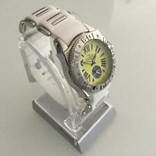 Aquaswiss Swissport M Ladies White Rubber and Stainless Steel Watch New