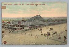 Giant Racing Roller Coaster CONEY ISLAND Brooklyn NYC New York City—Rare Antique