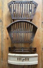 GRATES 1930S 40s VINTAGE CAST IRON FIRE FIREPLACE  BACK BOILER STOVE