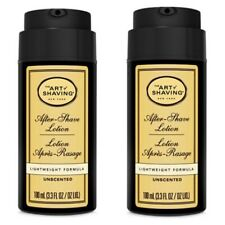 2 PK THE Art Of Shaving After Shave Lotion WEIGHT formula Unscented 3.3oz 1A