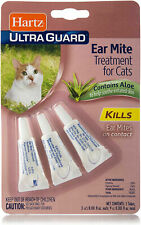 Hartz UltraGuard Ear Mite Treatment For Cats Package of 3 Contains Aloe