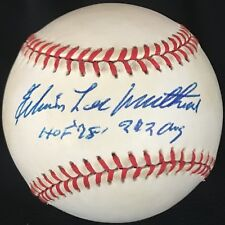 RARE Eddie Mathews Autographed Signed Full Name Edwin Lee ONLB Braves HOF PSA