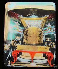 GLASS MAGIC LANTERN SLIDE LACQUER TOMB SHIBA TEMPLE TOKYO C1910 JAPANESE JAPAN