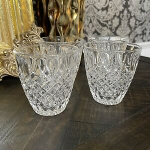 Mikasa HARDING Crystal Double Old Fashioned Glasses - Set of 4 New GORGEOUS