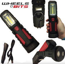 WheelsNBits Rechargeable 12V USB Cordless Inspection Lamp Super Bright COB LEDs