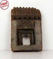 1850's Indian Antique Hand Carved Old Wooden Wall Hanging Frame / Temple 367