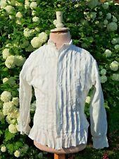 Ancien Corsage / Haut de Robe  / Chemisier blanc pour jeune fille Broderie